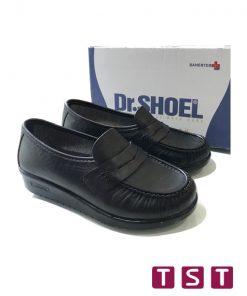 کفش طبی زنانه دکتر شول مدل کلاسیک مشکی 04